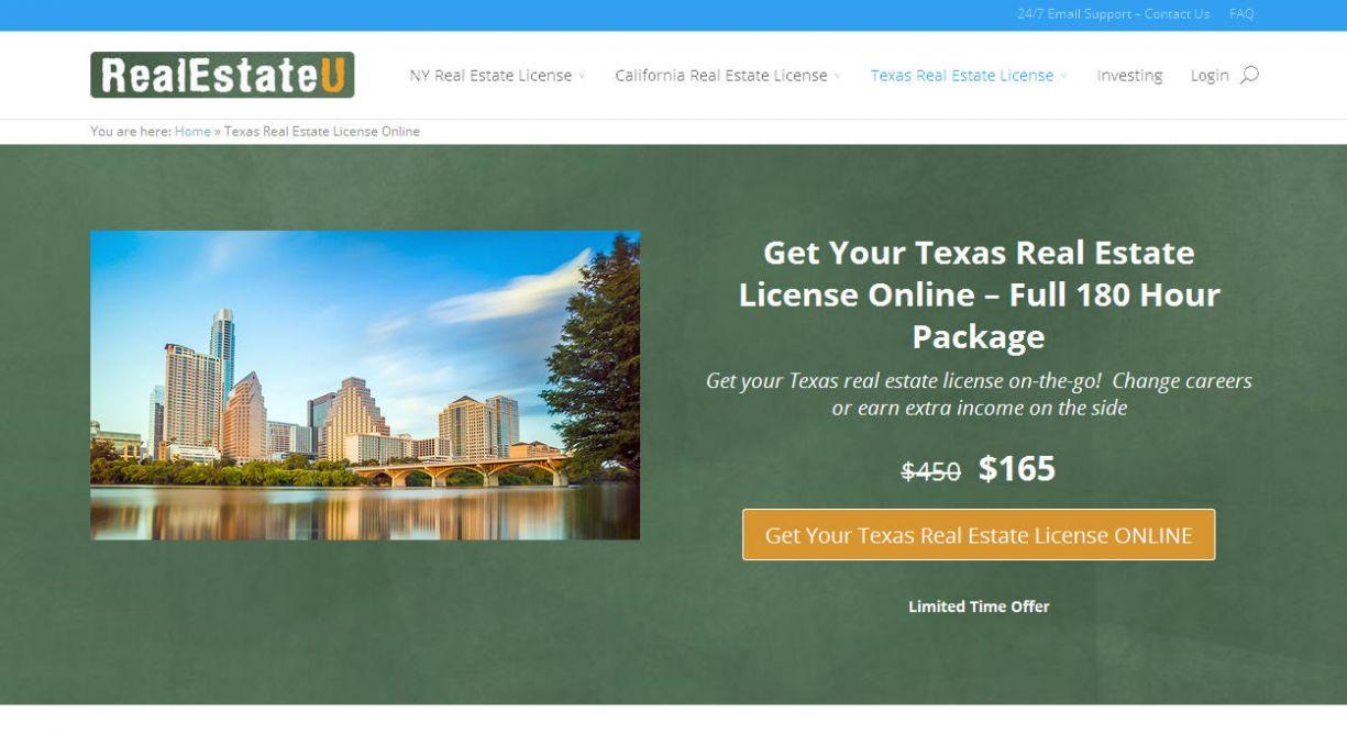 RealEstateU Offering Classes For Obtaining a Real Estate License Online in Texas