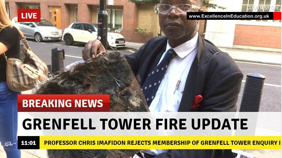 Professor Chris Imafidon rejects membership of Grenfell Tower public inquiry except immediate action is taken on social inequity