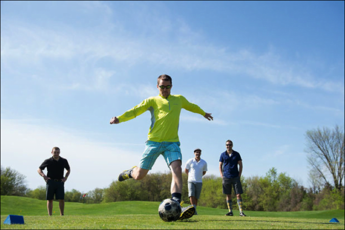 New Fox Hills FootGolf Tourney Requires some Fancy Footwork