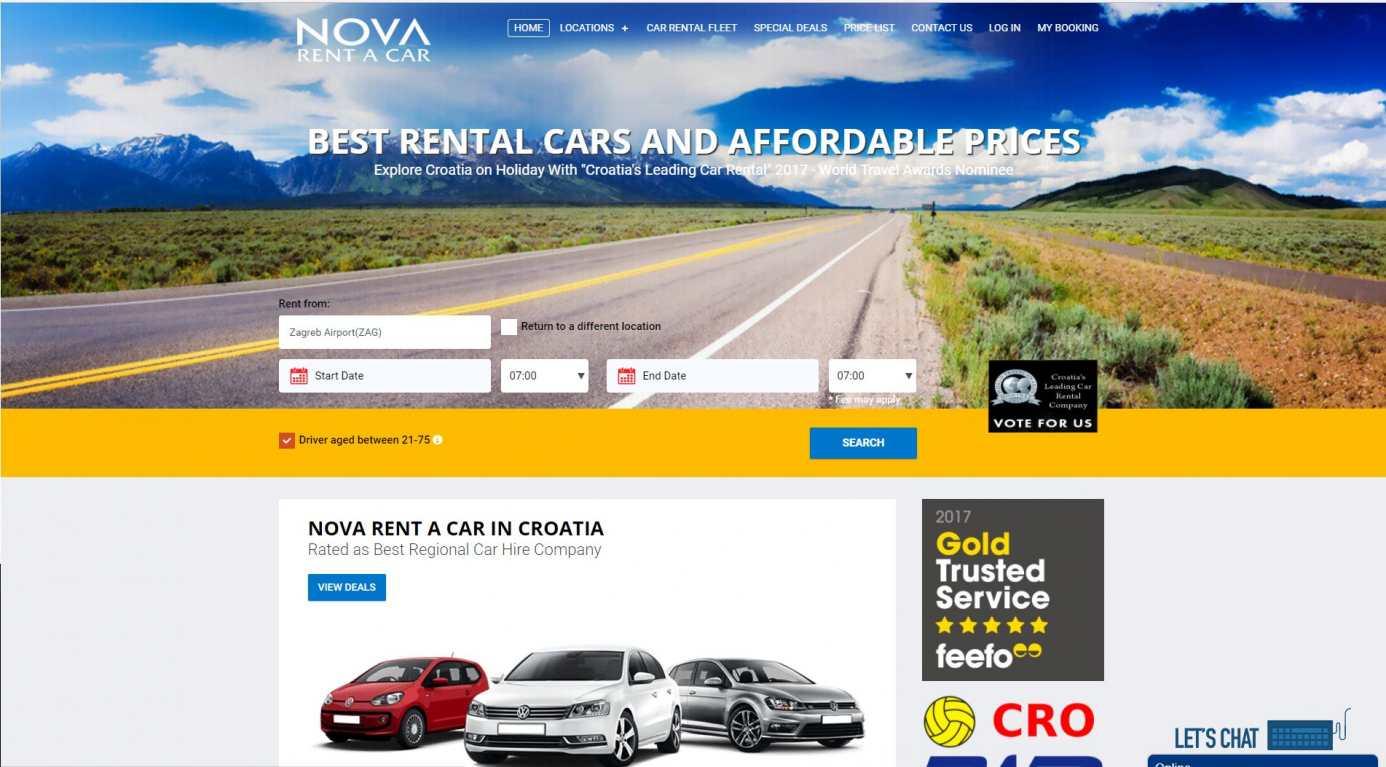 New website launched – NOVA Rent a Car Croatia