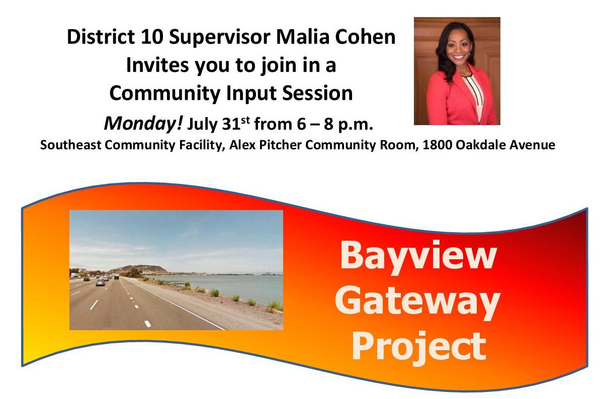 Bayview Hill Neighborhood Association Reminds The Community to Attend the Gateway Project Meeting