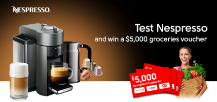 Test NESPRESSO for free and win $5,000 worth of Groceries in New Zealand