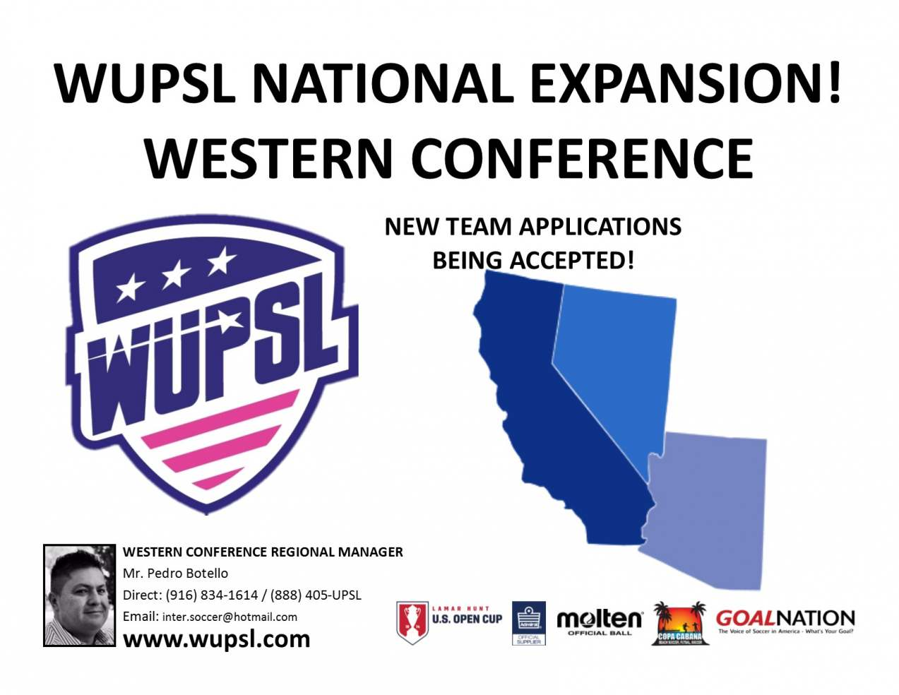 Women's United Premier Soccer League Names Western Conference Regional Manager