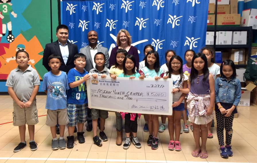 Asian Youth Center Awarded $5,000 From Royal Business Bank