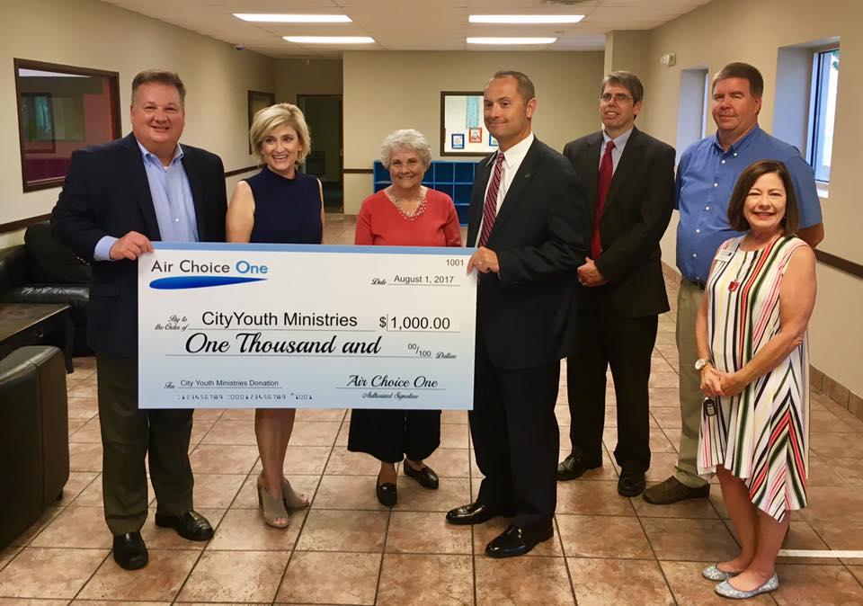 Air Choice One Donates $1,000 To Jonesboro's Cityyouth Ministries