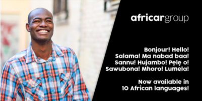 AfriCar Group websites now available in 10 African languages