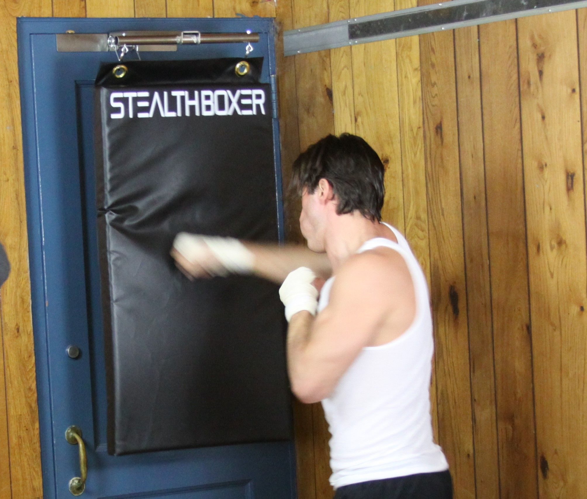 First Door Mounted Zero Footprint Punching Bag Brings The Benefits Of Boxing Workouts To Apartments College Dorms Homes And Offices