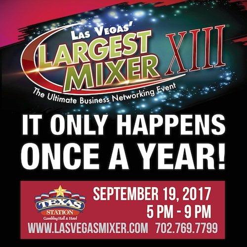 Las Vegas' Largest Mixer Celebrates Business Networking Community Sept 19