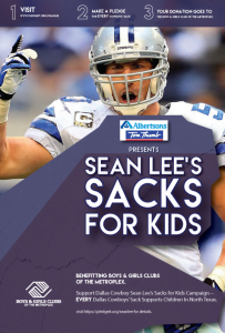 Albertsons & Tom Thumb Join Dallas Cowboys Linebacker Sean Lee's 'sacks For Kids'