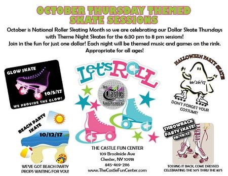 The Castle Fun Center is celebrating National Roller Skating Month