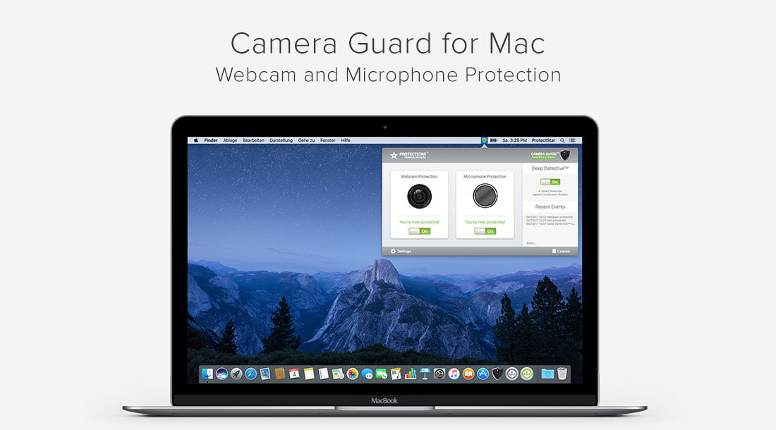 Hacker protection Camera Guard blocks Webcam and Microphone on Mac