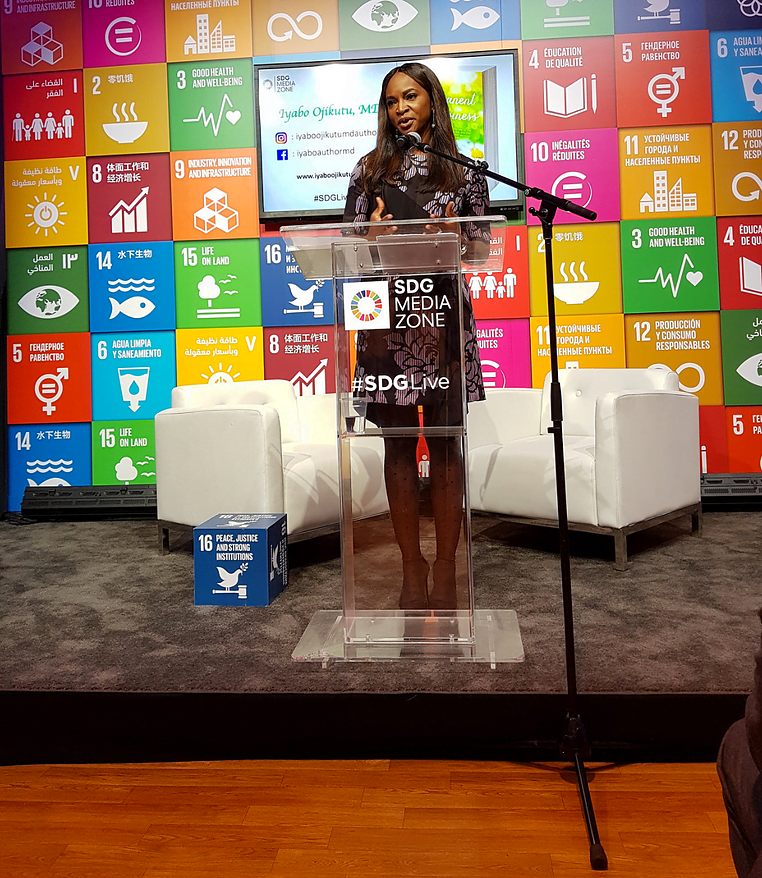 Dr. Iyabo Ojikutu Is a Voice for Peace at the SDG Media Zone 72nd United Nations General Assembly