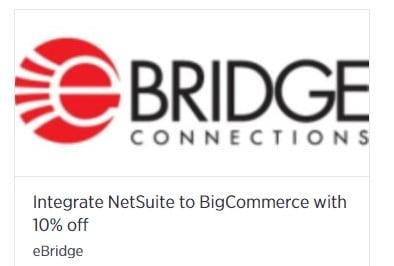 eBridge Connections Announces Limited Time 10 Percent Off Discount, Making It Easier and More Affordable Than Ever for BigCommerce Store Owners to Integrate With NetSuite or MS Dynamics AX/365