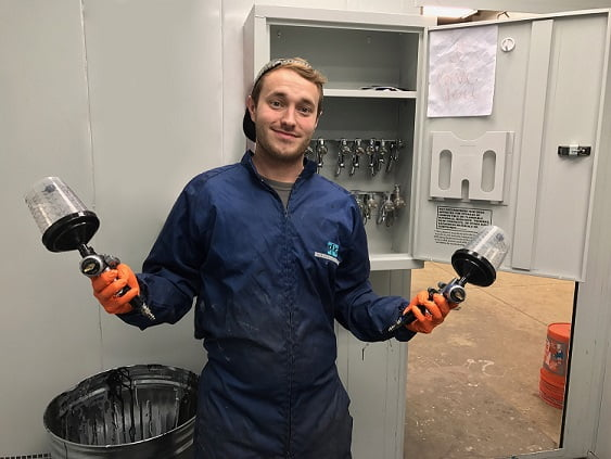 Autobody News: Young Painter is a SATA Veteran With 15 Guns