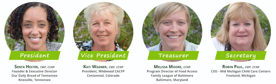 Hester, Wagner, Paul and Moore Elected to Executive Board, National CACFP Sponsors Association Board of Directors