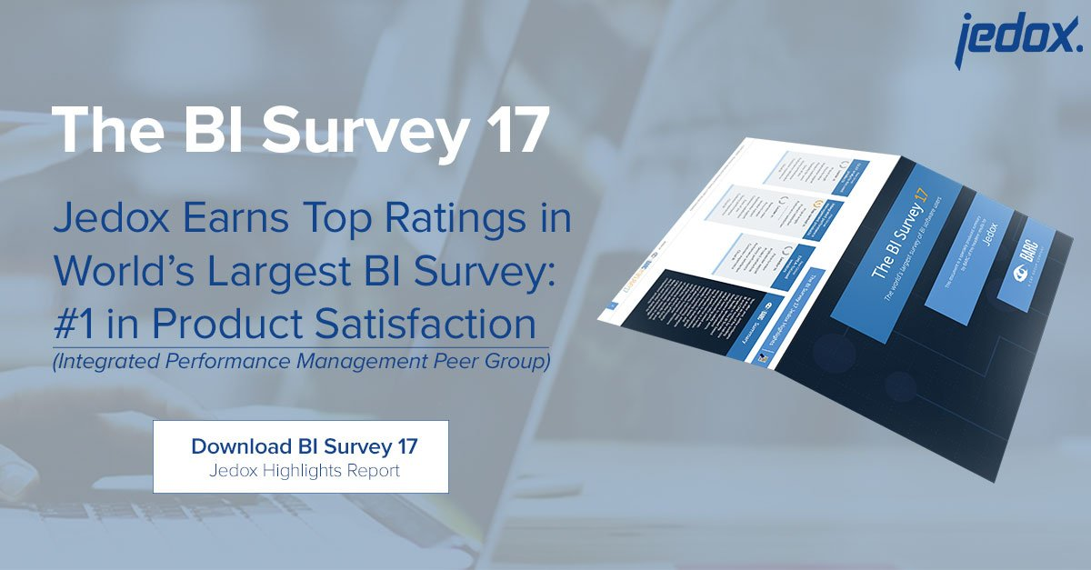 Jedox Earns Top Ratings in BARC's BI Survey 17: No. 1 in Product Satisfaction in the Integrated Performance Management Peer Group