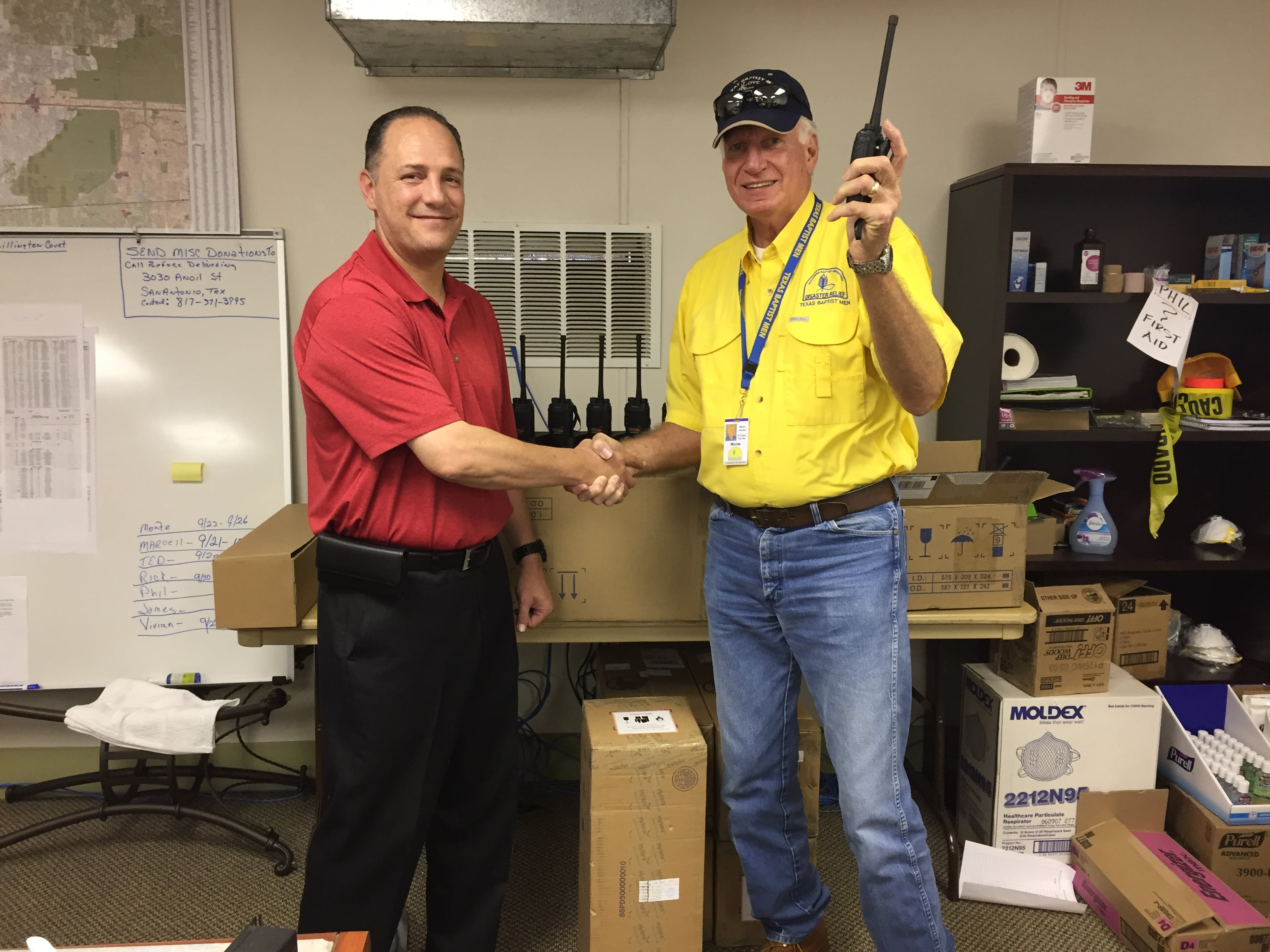 Hytera America, Inc. and Voceon Digital Radio Communications Provide Two-Way Radios to National Relief Organization Texas Baptist Men