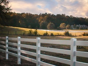 Vinyl Fencing is Less Expensive Than Wood or Iron Fences and is Easier to Clean.