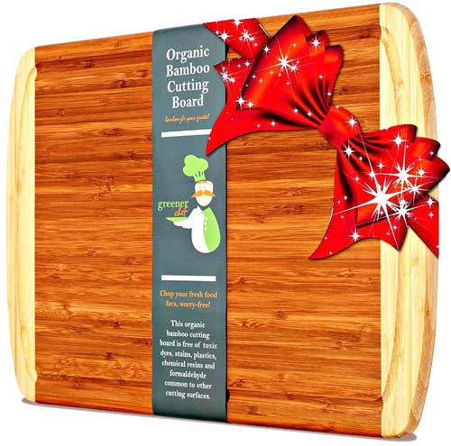 """Greener Chef's """"Organic Bamboo Cutting Board"""" has been ranked as Top Cutting Board by Rany10"""