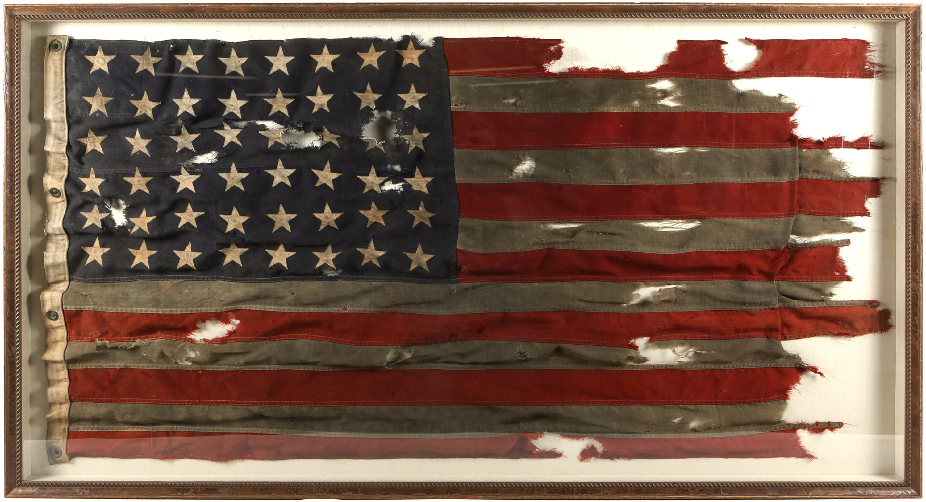 Historically Important WWII D-Day Flag of LCT 530 – Utah Beach, Normandy – to Sell at Public Auction