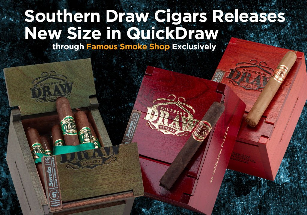 """Connoisseur-Size Cigars"""": NEW QuickDraw Corona Gorda Gets a Famous Introduction"""
