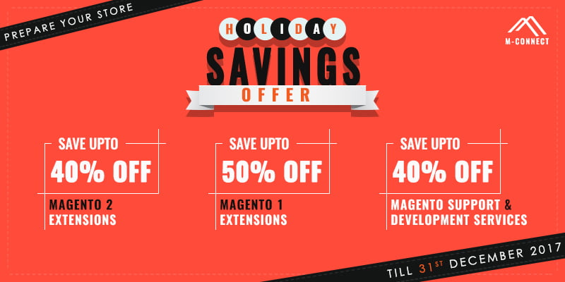 M-Connect Media Announces 2017 Holiday Savings Offers on Magento Extensions, Development & Support Services