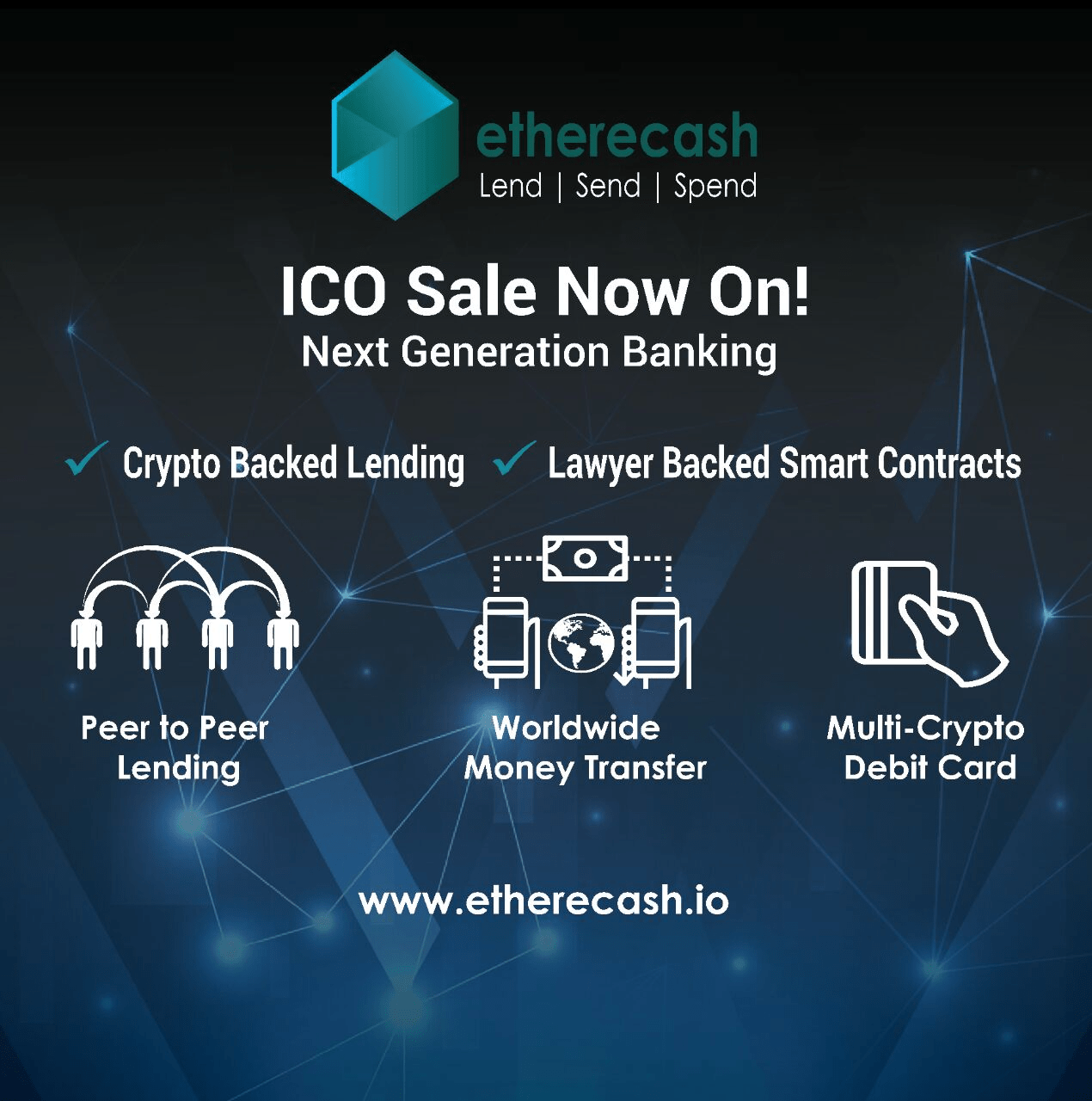 Blockchain P2P Lending, Sending, and Spending: Etherecash Garners Support From Over 40,000 Contributors During Pre-ICO