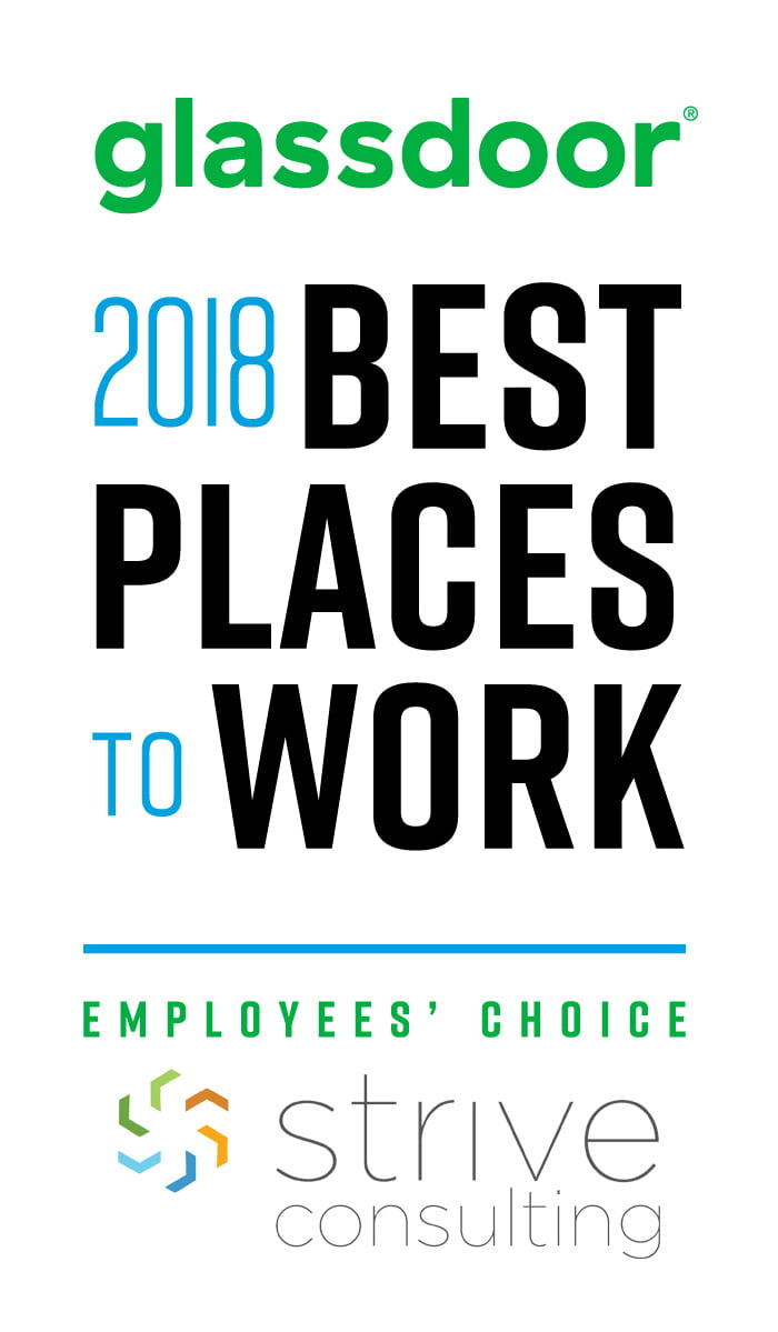 Strive Consulting Honored as One of the Best Places to Work in 2018, a Glassdoor Employees' Choice Award Winner