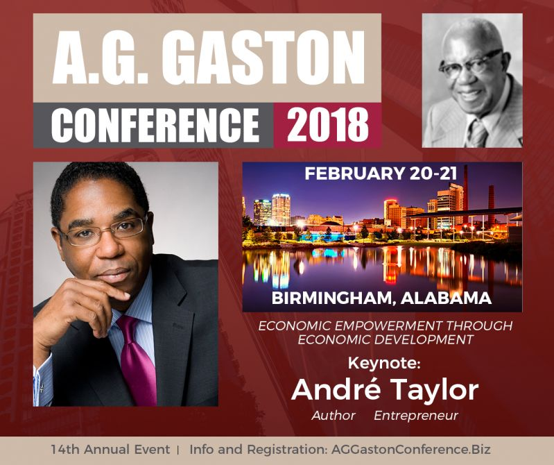 Andre Taylor To Keynote 14th Annual A.G. Gaston Conference