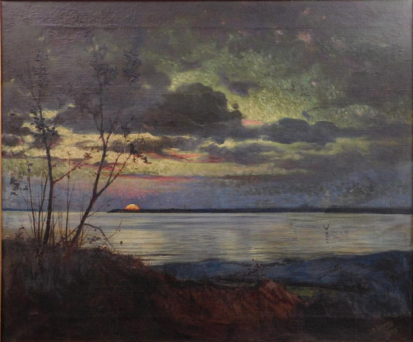 Luminist landscape painting attributed to Jasper F. Cropsey brings $38,400 at Woodshed Art Auctions, Dec. 28