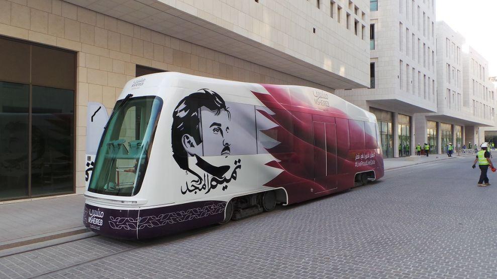 TIG/m Modern Street Railways Prepares Third Modern Tram for Shipment to Doha Msheireb Development