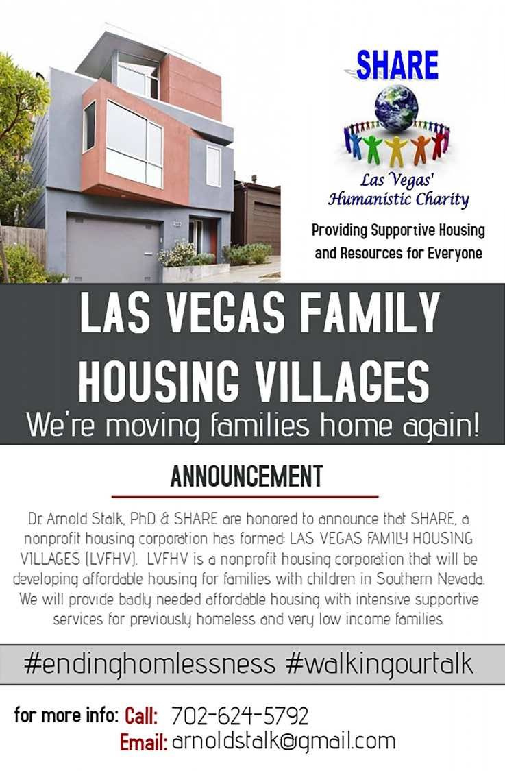Dr. Arnold Stalk, PhD & SHARE Announce New Affordable Housing Model for Previously Homeless Families