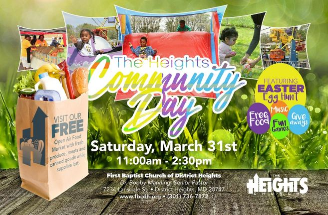 MD Church Hosts 7th Annual Heights Community Day on March 31 as Part of Easter Weekend Celebration