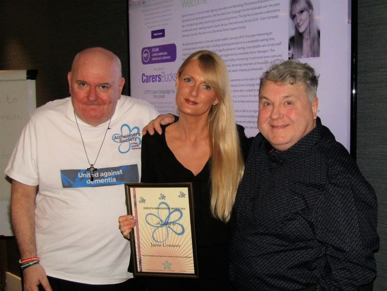Jayne Connery of Care Campaign for the Vulnerable meets Alzheimer Society Ambassador Terry Eccott