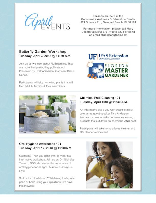Florida Health Care Plans to Host Butterfly Garden Workshop & More Events in April