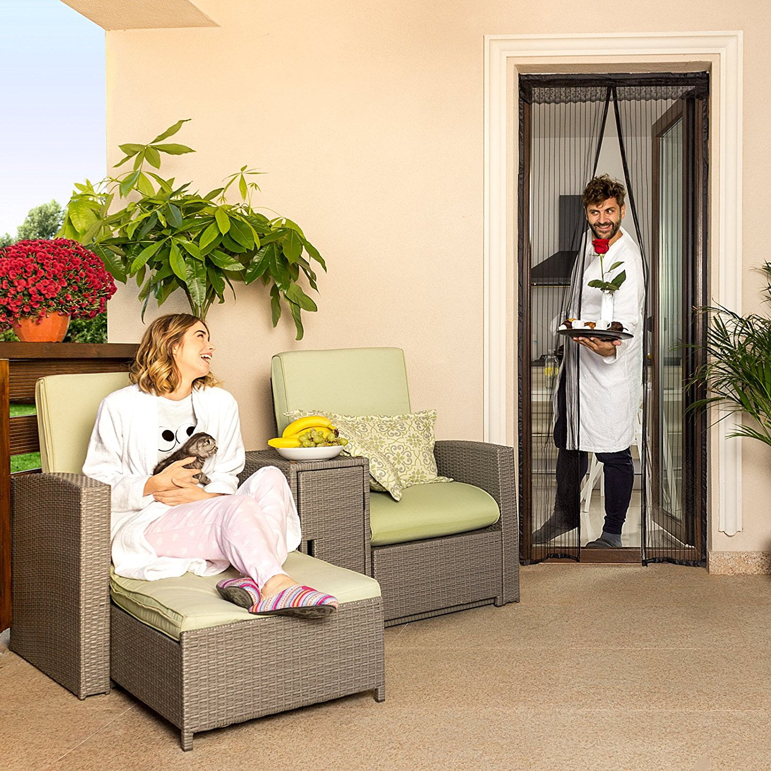 Looking Forward to an Insect-Free Summer Thanks to the Lazy Monk Magnetic Screen Door Bundle