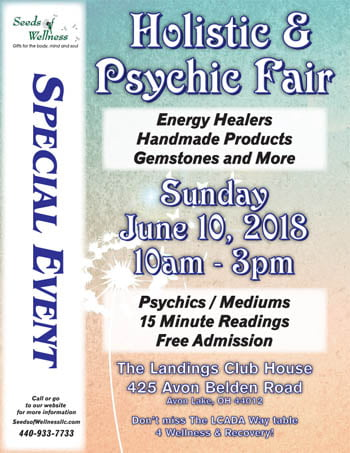 Seeds of Wellness Sponsors 5th Annual Holistic and Psychic Fair in Avon Lake, OH