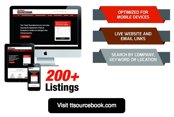Tow Times Unveils Online SourceBook Towing and Recovery Buyer's Guide