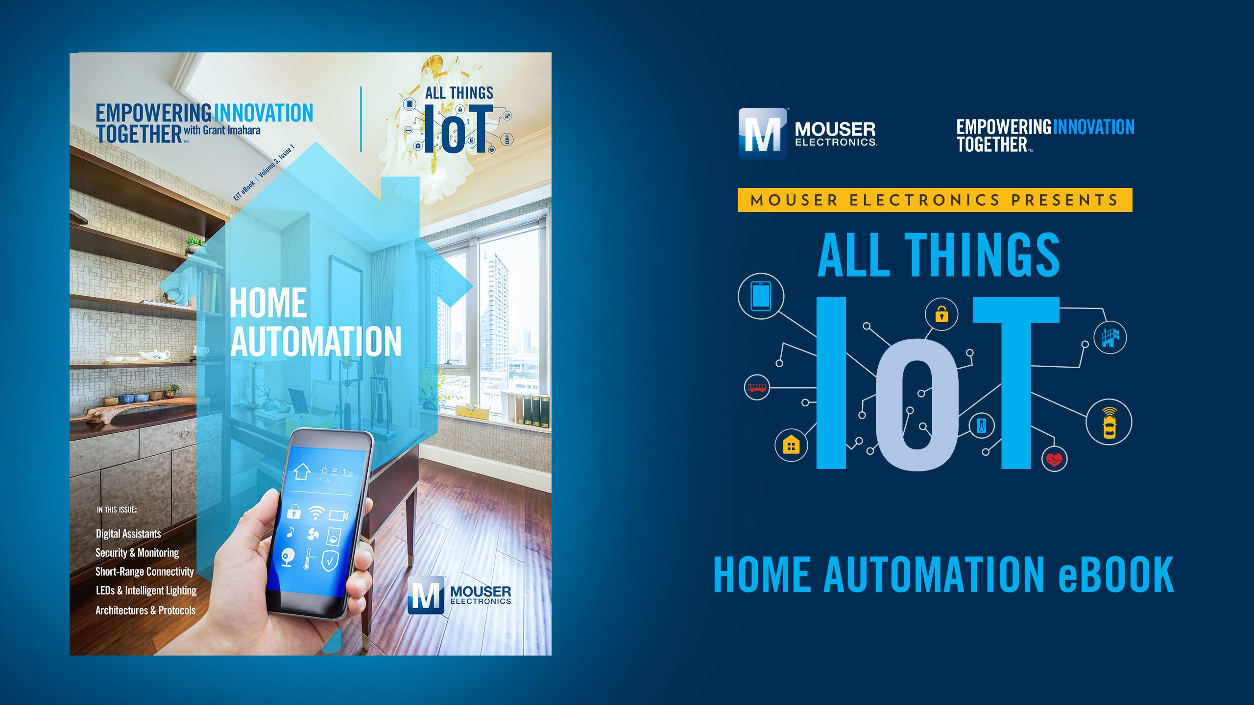 Mouser Electronics Debuts New E-Book on Home Automation as Part of All Things IoT Series