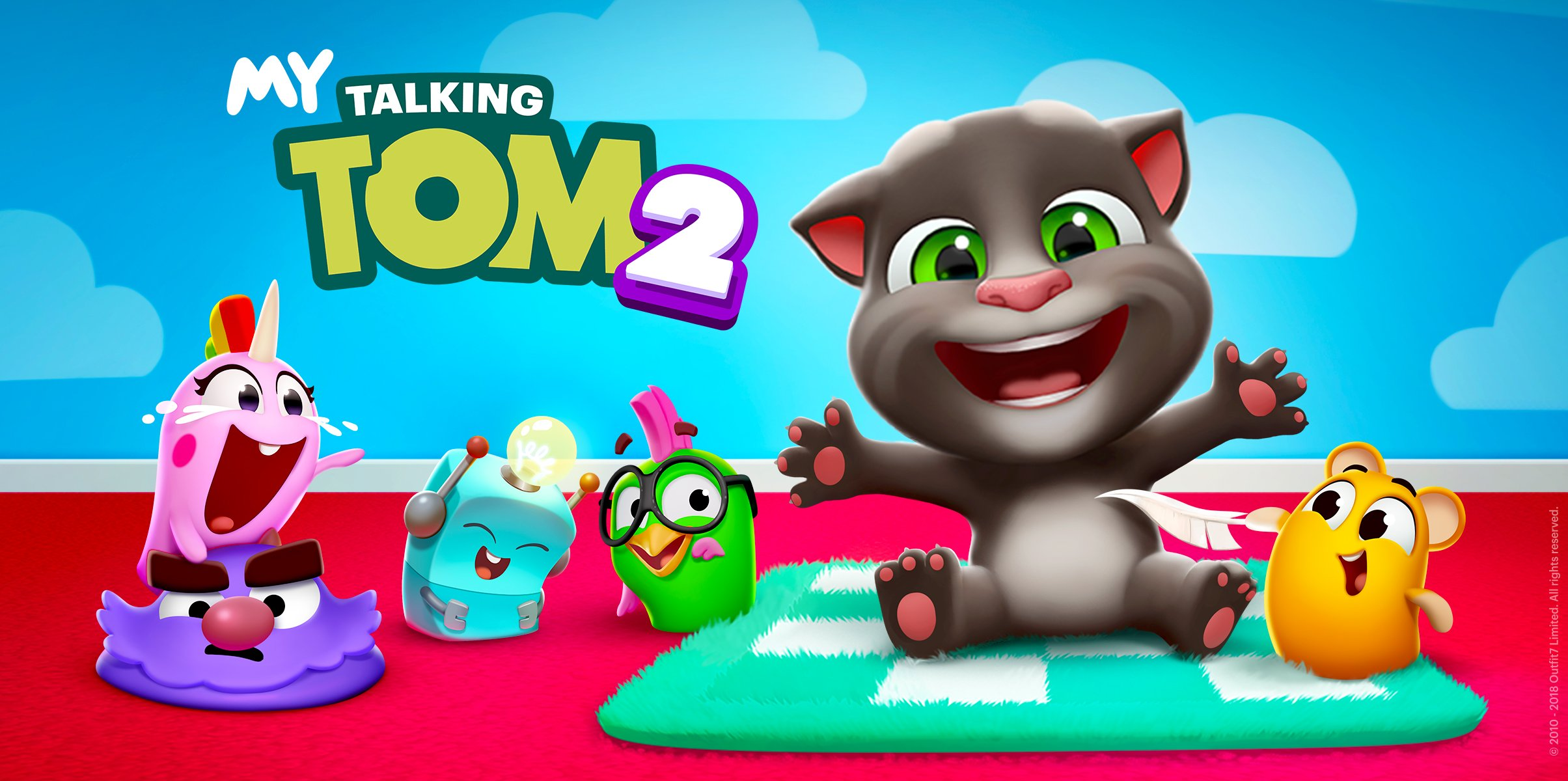 Outfit7 Releases the Most Interactive Virtual Friend Mobile Game Ever – My Talking Tom 2