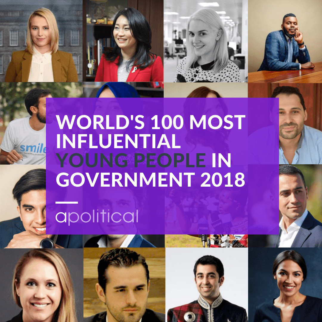 Apolitical Announces World's 100 Most Influential Young People in Government for 2018