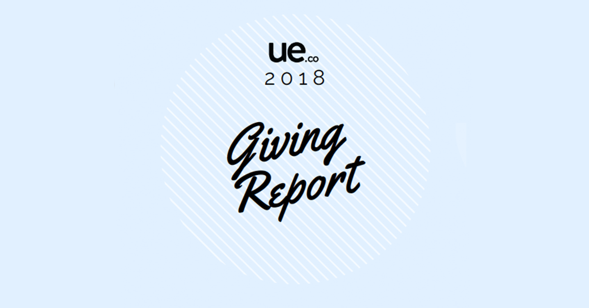 UE.co 2018 Corporate Giving Report and Letter From CEO Jason Kulpa