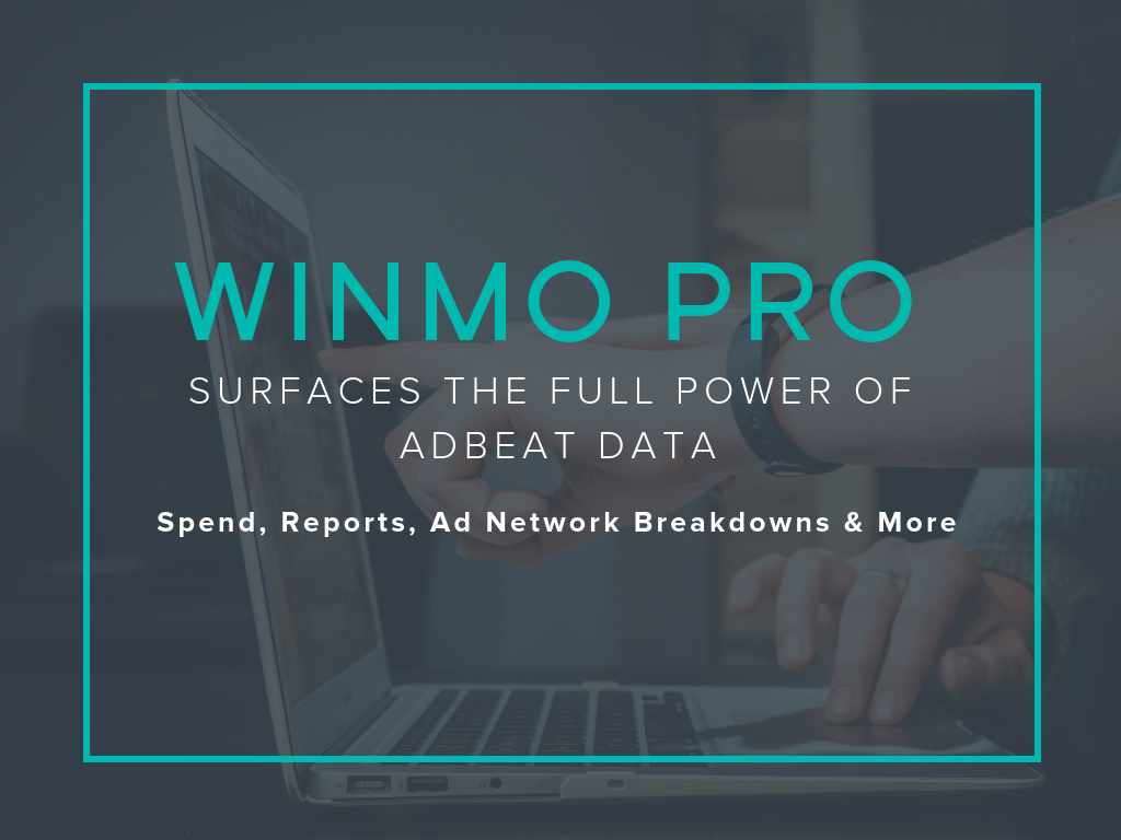 Winmo Pro Surfaces the Full Power of Adbeat Data: Spend, Reports, Publisher Intel and More