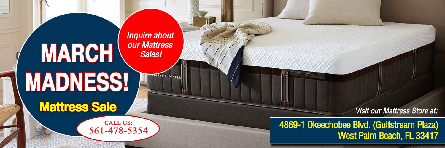 West Palm Beach Mattress Store Hosts March Sales Event, All Major Brands at Affordable Prices