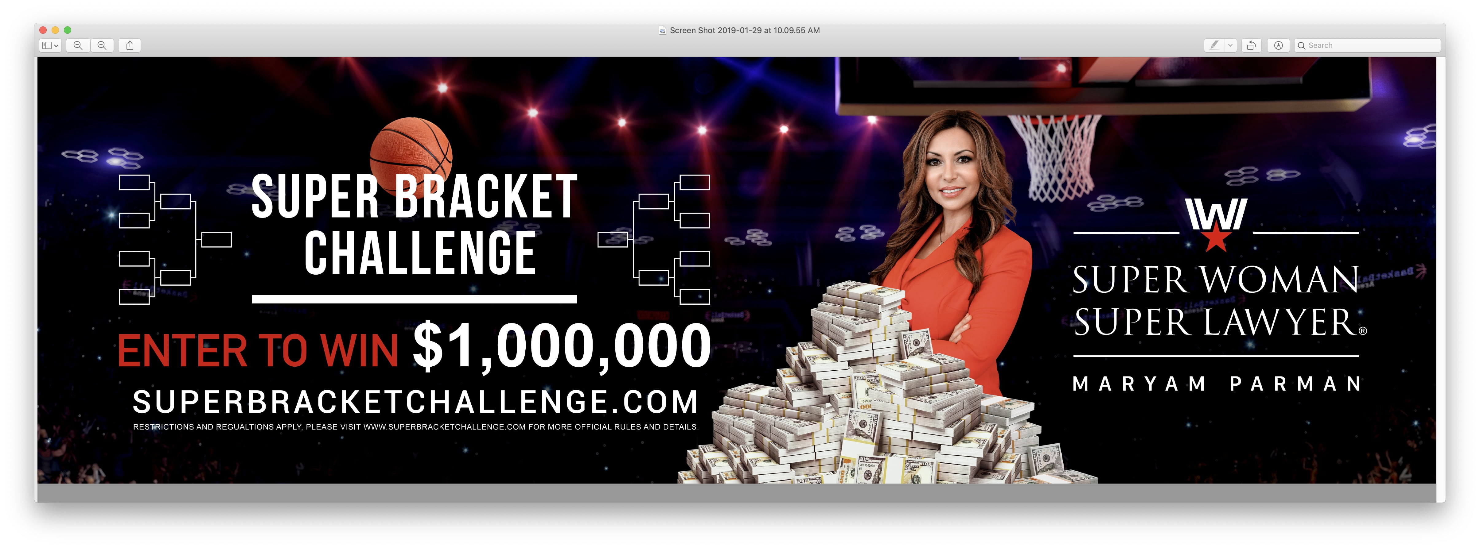 $1 Million Super Bracket Challenge Giveaway by Maryam Parman