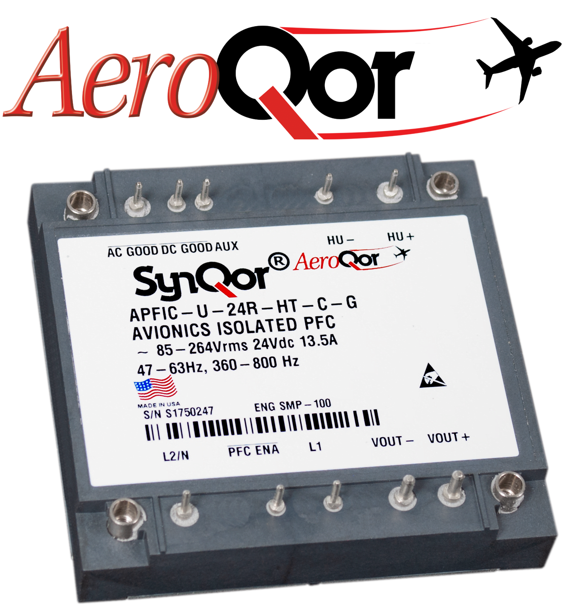 SynQor® Announces Its New AeroQor Product Family of Power Converters and Filters