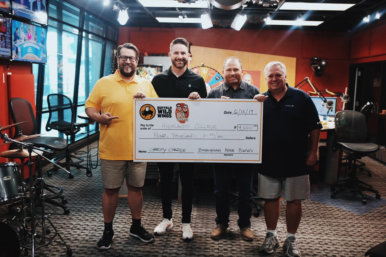 Highlands College Receives $4,000 Donation From Rick & Bubba Fundraiser