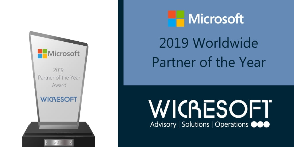 Wicresoft Recognized as 2019 Microsoft Partner of the Year