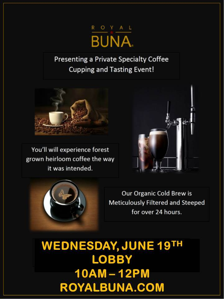 TenTen Wilshire Hosts a Specialty Coffee Tasting Featuring Royal Buna Coffee for Its Tenants