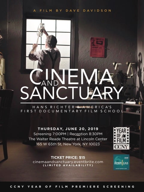 World Premiere of CINEMA AND SANCTUARY, a Documentary About the Fascinating Life of Pioneering Experimental Filmmaker Hans Richter and America's First Documentary Film School